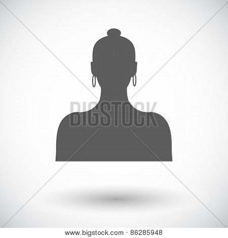 Female avatar single icon.