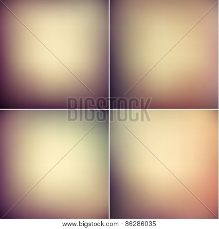 Smooth vintage backgrounds collection - raster version