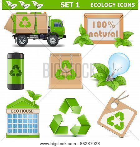 Vector Ecology Icons Set 1