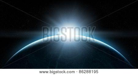 Rising Sun In Space