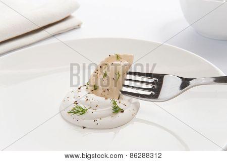 Dumpling On A Fork