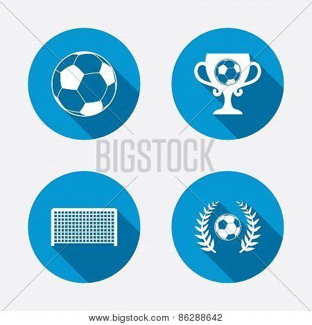 Football icons. Soccer ball sport.