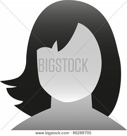 blank female avatar