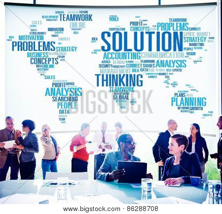Solution Success Sloved Decision Strategic Progress Concept