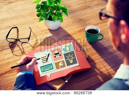 Content Blog Blogging Idea Media Internet Email Concept
