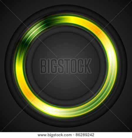 Bright glowing circle concept logo. Vector design