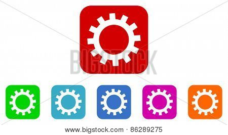 gear vector icons set