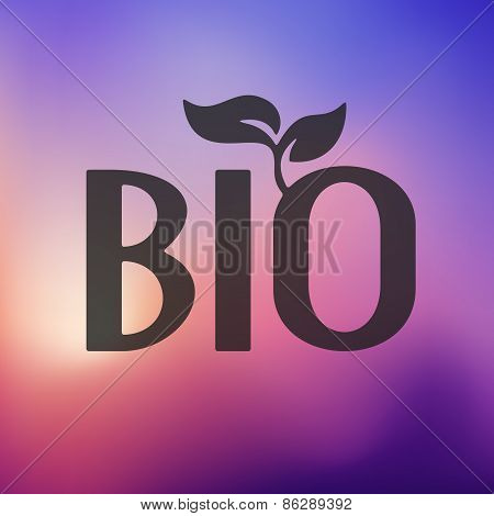 bio sign icon on blurred background