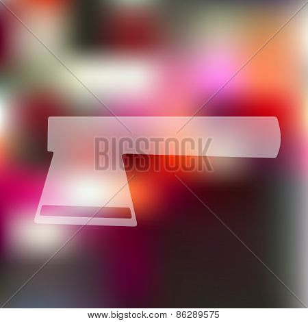 axe icon on blurred background