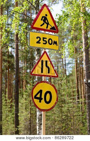 Road Signs. Repair