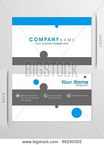Simple, Clean, Professional business and visiting card set in blue and grey colors lines.