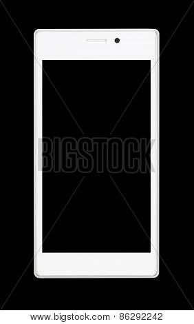 White Smartphone At Black Background