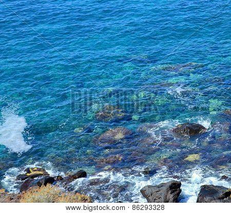 Blue atlantic ocean water.