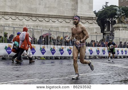 Marathon Runner In Swimsuit