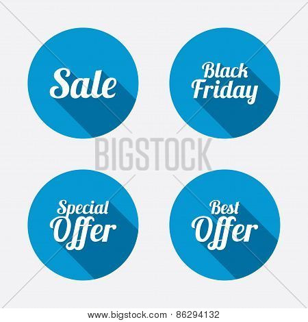 Sale icons. Best special offer symbols
