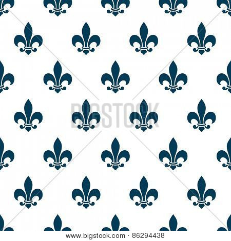 Fleur de lys seamless pattern. Endless vector background