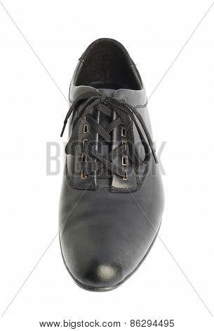 Classic black leather shoe isolated