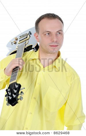 Young Man With A Black Guitar.