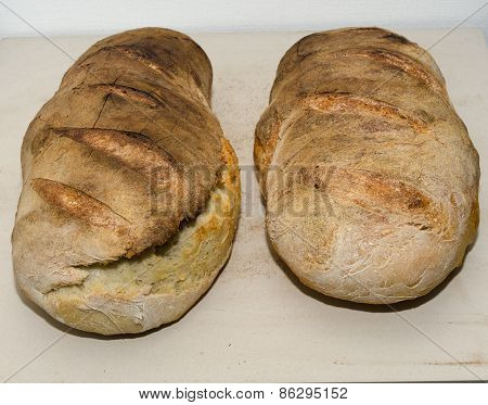 Two Bread Loaves