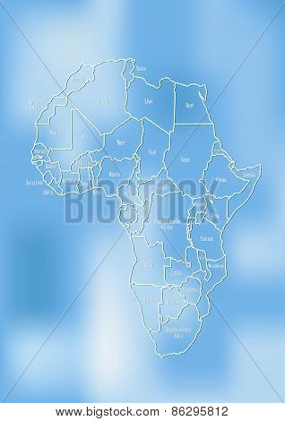 Creative Map Of The African Continent.