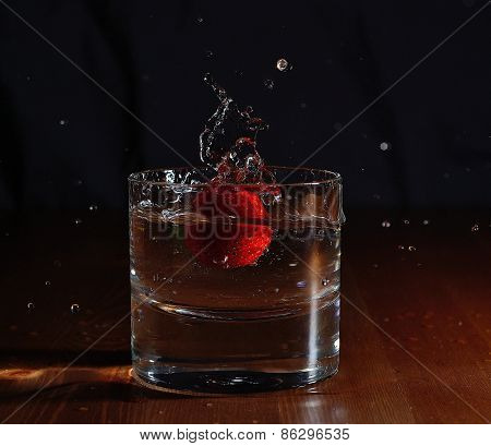 Strawberry drop