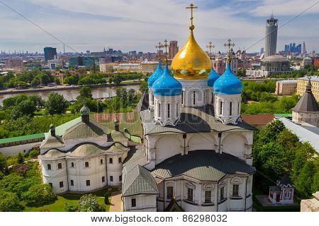 Russia, Moscow, May 2013 - View Of Moscow From The Bell Tower Of The Novospassky Monastery. Moscow I