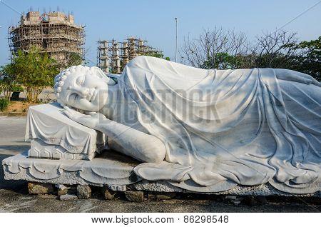Reclining Buddha at Linh Ung Pagoda in Da Nang, Vietnam