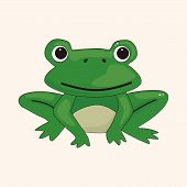 stock photo of cute frog  - animal frog cartoon theme elements - JPG