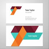 pic of letter t  - Modern letter T Business card template - JPG