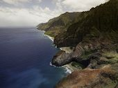 picture of na  - Aerial View on Na Pali Coast on Kauai island on Hawaii - JPG