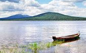 picture of ural mountains  - Photo of a Mountainous lake Zyuratkul in Russia - JPG