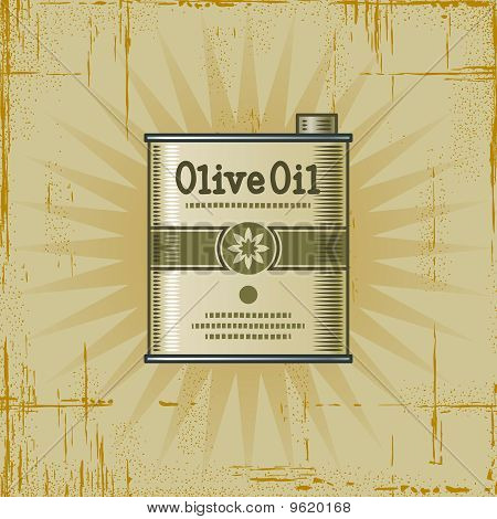 Retro Olive Oil Can