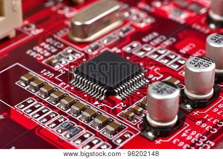 Circuit Board With Microchip