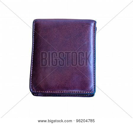 Leather Wallet Isolated  Background