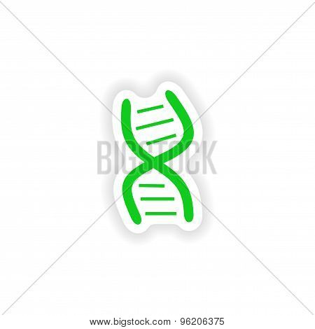 icon sticker realistic design on paper logo DNA