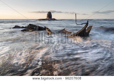 Saltwick Bay Sunset