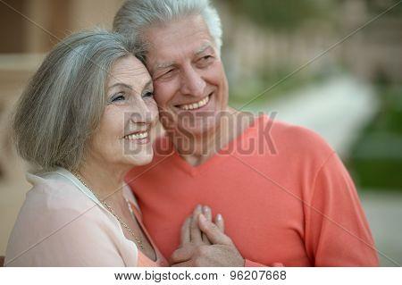 eautiful elderly couple outdoor
