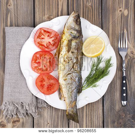 Fried Fish Sea Bass