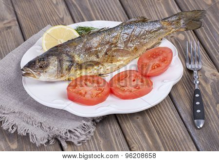 Fried Fish Sea Bass