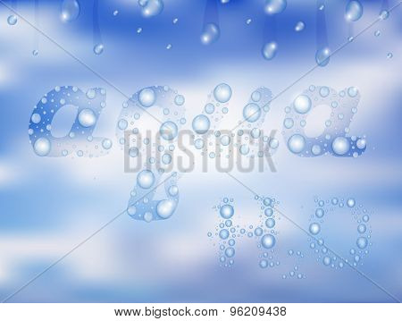 Water Drops With Background