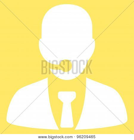 Call center operator icon from Business Bicolor Set