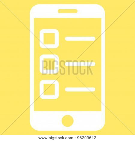Mobile test icon from Business Bicolor Set