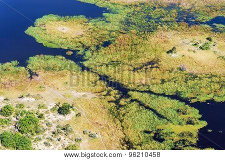 Okavango Delta Aerial View