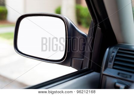 Car side mirror with copy space