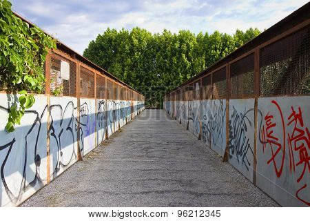 Old Iron Footbridge - Connection Among Two Banks
