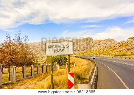 Michell's Pass In Western Cape, South Africa.