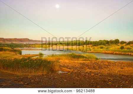 Orange River Namibia And South Africa Border