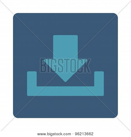 Download flat cyan and blue colors rounded button