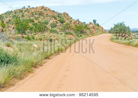 Namib Desert Landscape In Namibia
