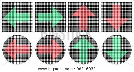 Pixel Arrows Icons.